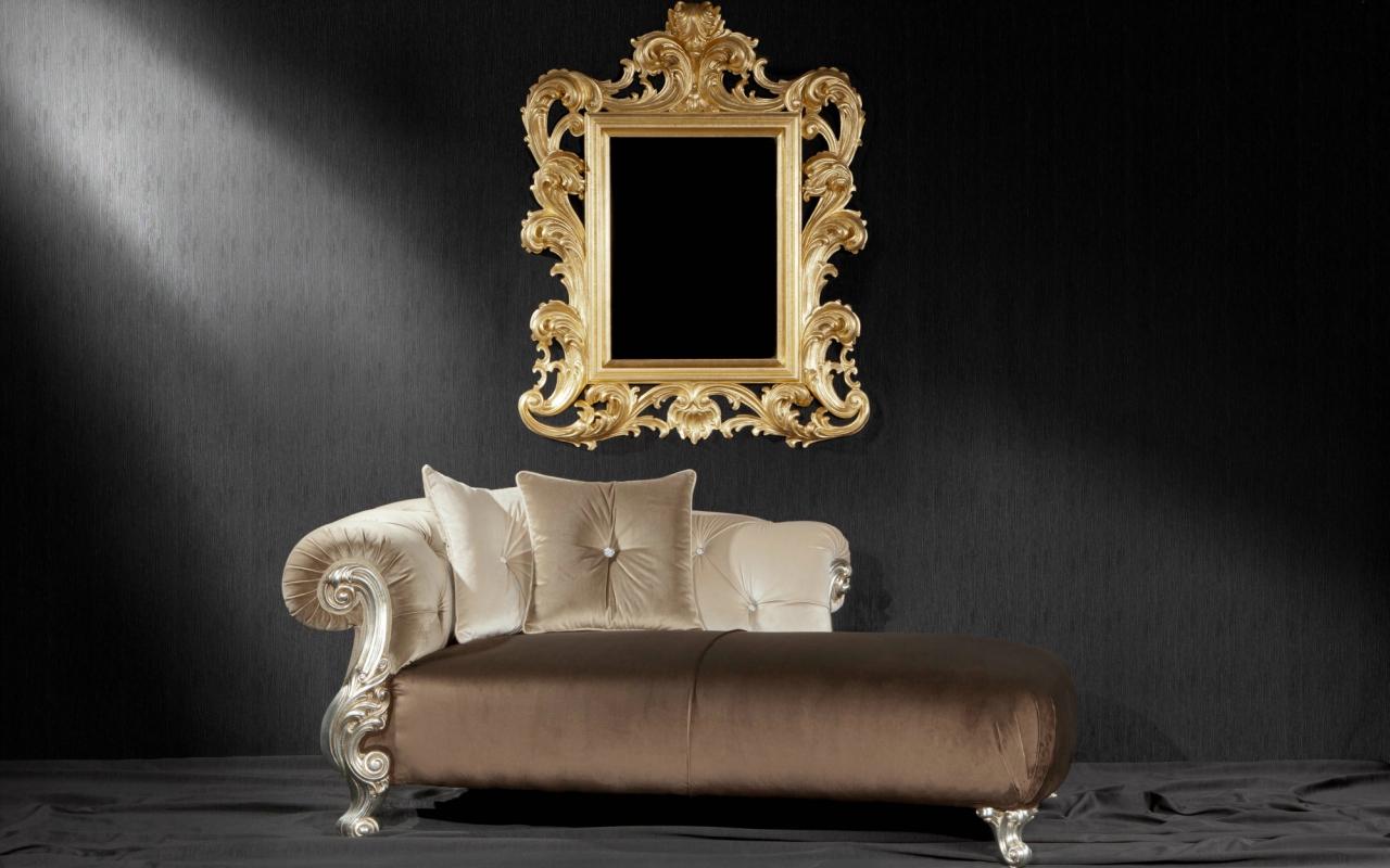 Oceano dormeuse orsitalia for Chaise de style baroque