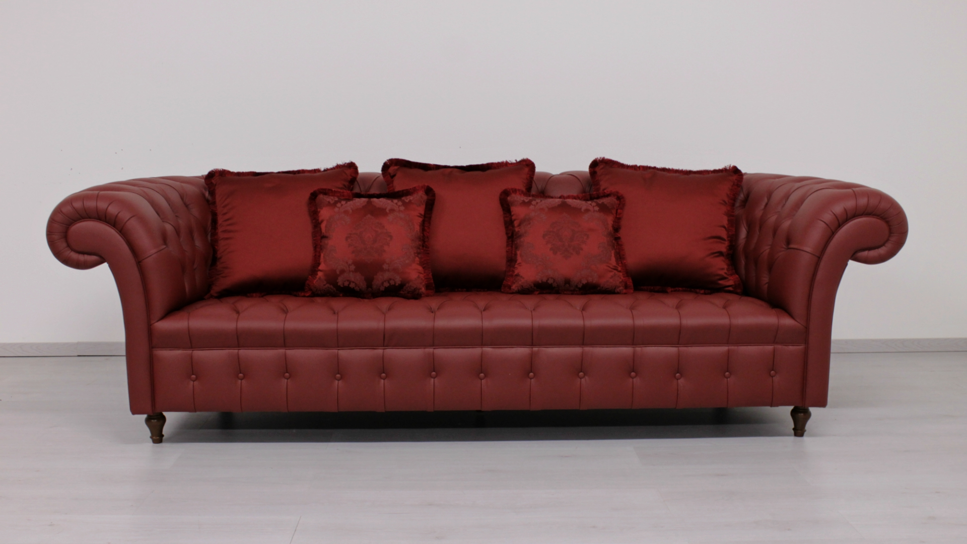 Chesterfield Leather Sofa Full Quilted