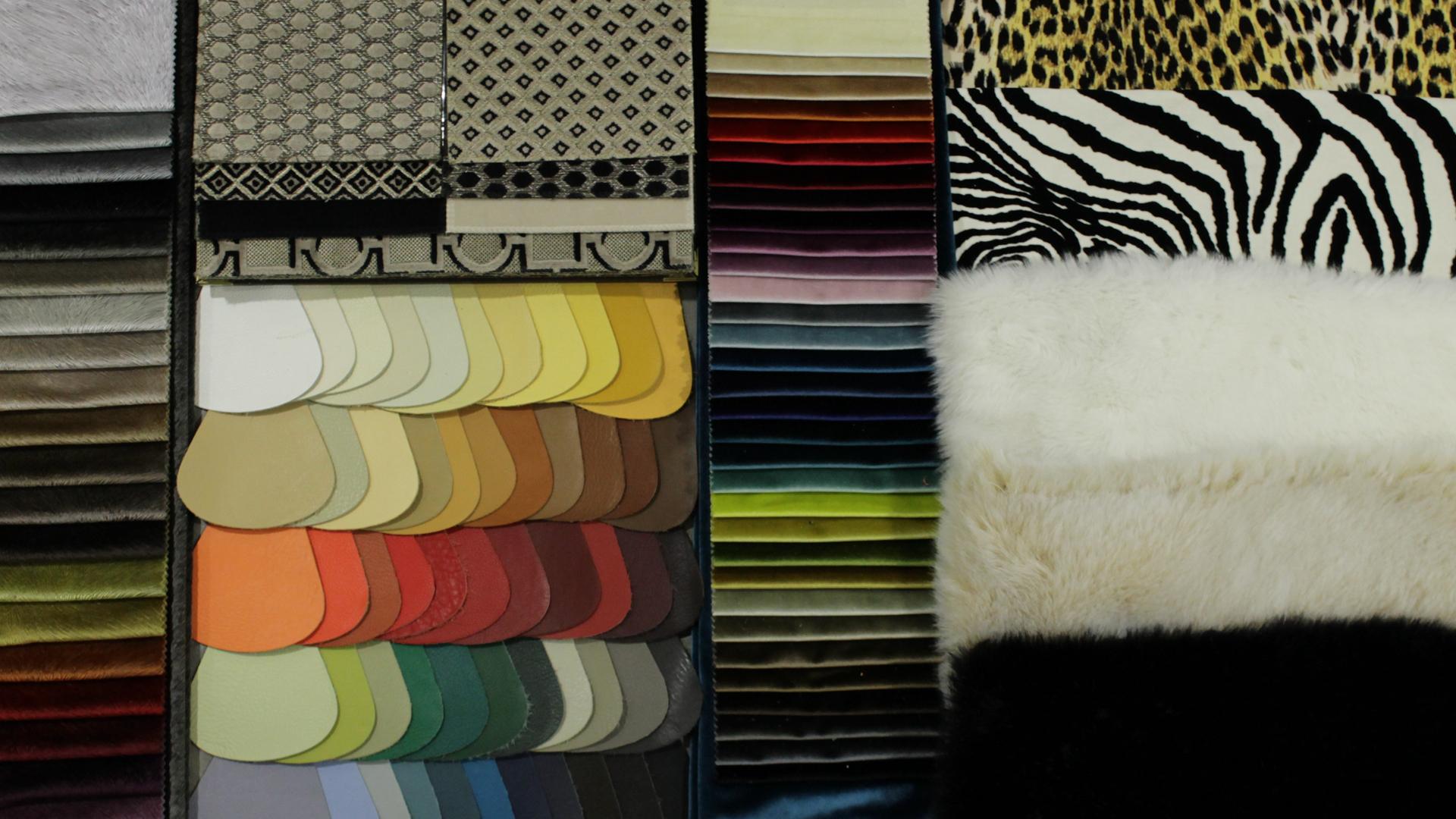 Orsitalia's fabrics and leathers