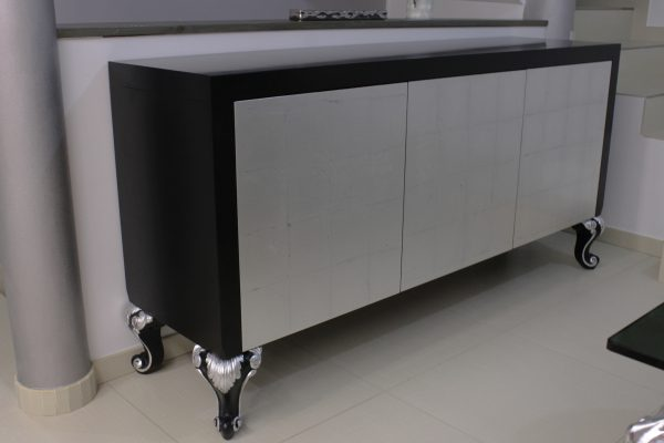 Cube modern sideboard black and silver